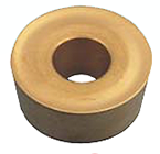 Precise RCMT-0803 Tin Coated C-6 Round Carbide Insert (Pack of 10) - 6034-3132
