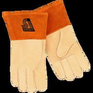Steiner 0219-M Unlined Premium Top Grain Pigskin TIG Welding Gloves with 4 Cuff Medium