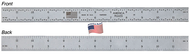 "Fowler 6"" Satin Chrome 5R Flexible America Rule - 52-300-006-2"