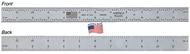 "Fowler 6"" Satin Chrome IN/mm Flexible America Rule - 52-380-006-1"