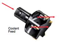 APT Coolant Fed Tri-Dex Indexable End Mills