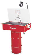 Graymills Deluxe Solvent Drum Mount Manual Parts Washer-30 Gallon - DMD236