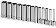 "SK Tool 1/4"" Drive Semi-Deep & Deep Metric Socket Sets"