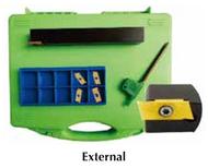 Precise Miniature External & Internal Grooving Cut-Off & Threading Sets