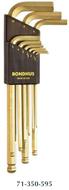 Bondhus Silver & Gold Plated Balldriver® L-Wrench Sets