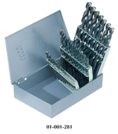 """Precise 29 Piece 1/16"""" to 1/2"""" by 64ths Jobbers Length Twist Drill Sets"""