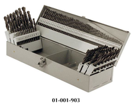 Precise 115 Piece 3 In 1 Combination Jobbers Length Twist Drill Sets