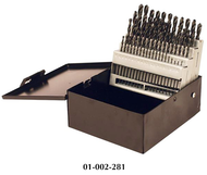 Precise 60 Piece #1 to #60 Jobbers Length Twist Drill Sets