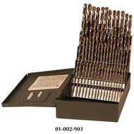 Rushmore USA 60 Piece #1 to #60 Jobbers Length Twist Drill Sets