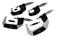 "Mitutoyo Coolant Proof Micrometer SET, Range 0-4"" w/ SPC Output - 293-961"