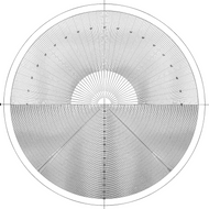 Mitutoyo Overlay Chart for Meas. Projector, No.11 - 12AAM587