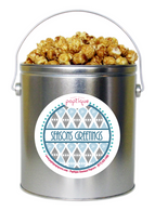 Seasons Greetings 1 Gallon Popcorn Holiday Gift Tin