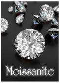 Moissanite stones 2.4 times more brilliant than a diamond.