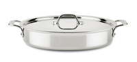 All-Clad D3 Compact SS 4.5 Qt Sear & Roast Pan with Lid -Special