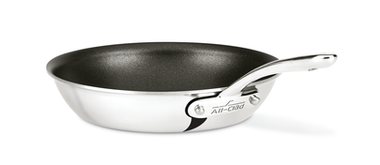 All-Clad D3 Compact features the reliable performance of triply bonded cookware, thoughtfully designed for compact storage, multifunctionality and comfort. The 8.5 inch nonstick skillet is a great add-on to the larger sets, with each piece designed to nest and store neatly in smaller spaces. This skillet features three layers of PFOA-free nonstick coating, making food release effortless and cleanup a breeze. New contoured handles fit perfectly in hand and are securely riveted to the pan, while flared edges allow for accurate, drip-free pouring. With added versatility and comfort, D3 Compact fits how you cook and live.