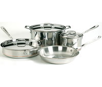 All Clad Copper Core 7 Pc Cookware Set