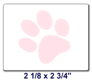 PAW Labels / Box of 6 Rolls (3000 labels)