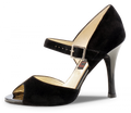 Nora black suede high heel tango/latin shoe