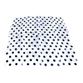 "18"" Spotted Silk  (White with Black Dots)"