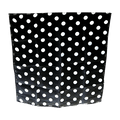 "18"" Spotted Silk (Black with White Dots)"