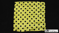 21 Inch Polka Dot Silk (Yellow with Black Dots) by Mr. Magic
