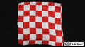 21 Inch Production Silk (Red and White Chess Board) by Mr. Magic