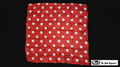21 Inch Production Silk (Red with White Dots) by Mr. Magic