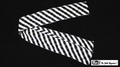 6 Inch by 18 Feet Production Streamer (Black and White Zebra)