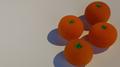 Set of Four Sponge Oranges