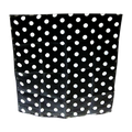 15 Inch Spotted Silk (Black with White Dots)