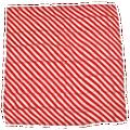 "36"" Red and White Zebra Silk"