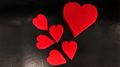 Set of 6 Sponge Hearts by Goshman Magic