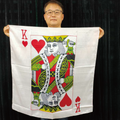 36 Inch King of Hearts Silk by JL Magic - White Background