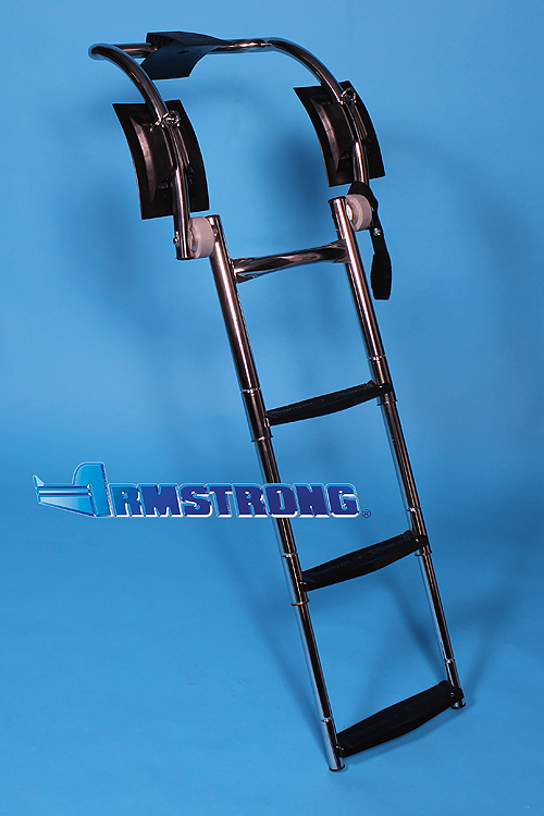 "RIB Ladder 3 Steps 37 Inch Length - Fits Tube 23""-24"" Diameter"