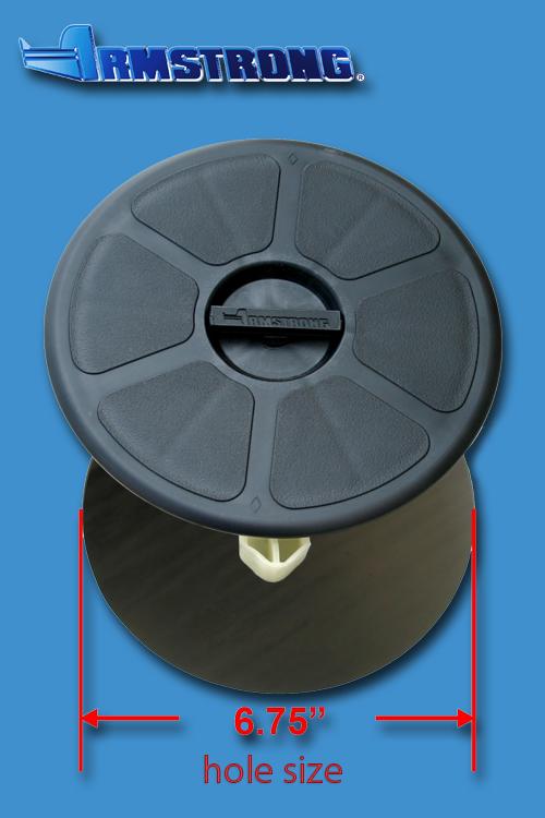 Deck Plate - 6 round - Black