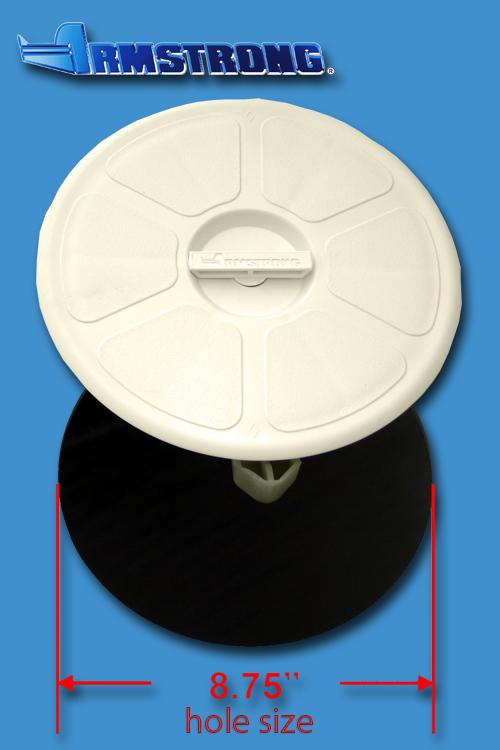 Deck Plate - 8 round - Cream