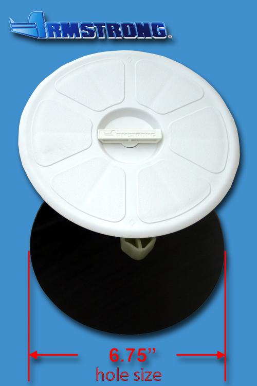 Deck Plate - 6 round - White