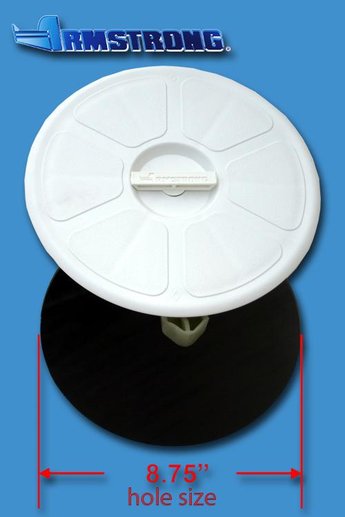 Deck Plate - 8 round - White
