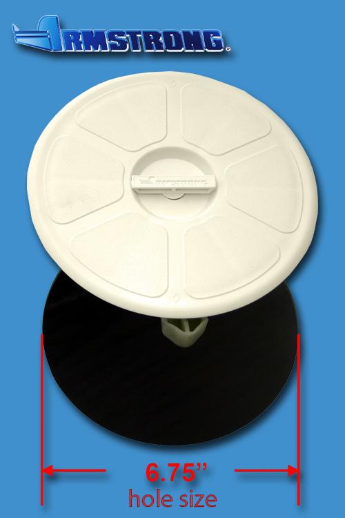 Deck Plate - 6 round - Cream