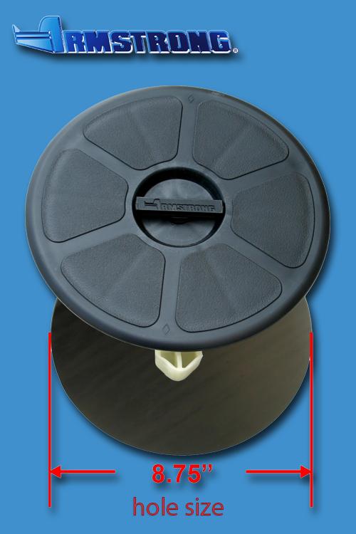 Deck Plate - 8 round - Black