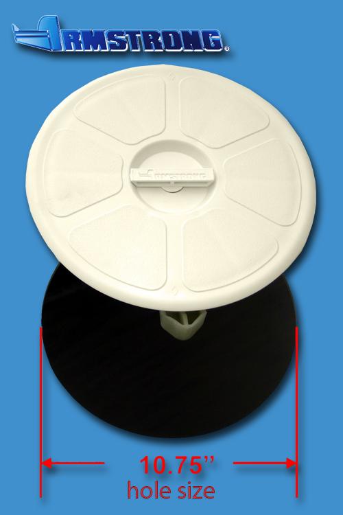 Deck Plate - 10 round - Cream