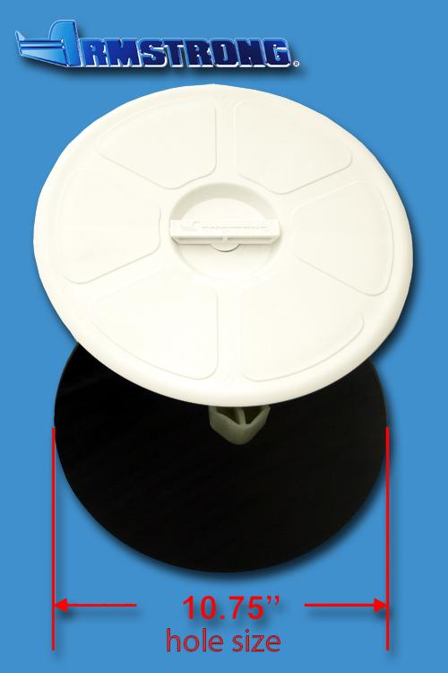 Deck Plate - 10 round - White