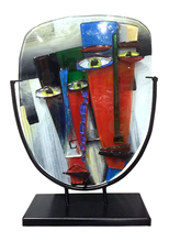 """11"""" x 14"""" Abstract Sculpture Two Faces"""