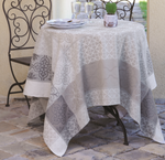 Jacquard Weave French Tablecloth - Quadrado Natural