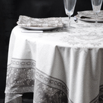 Provence Haveli Coated Cotton Round Tablecloths - Brown