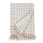 Pom Pom at Home Dexter Linen Throw - Ivory/Natural