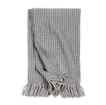 Pom Pom at Home Jasper Oversized Throw  - Blue Grey