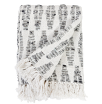 Pom Pom at Home Avalon Linen Throw - White/Grey