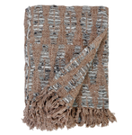 Pom Pom at Home Avalon Linen Throw - Brown/Grey
