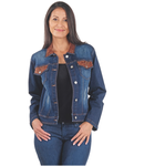 Venario Aurora Stretch Denim Jacket - Blue